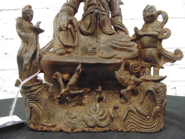 Early bronze Ming Dynastyfigure of Guanyin - 3