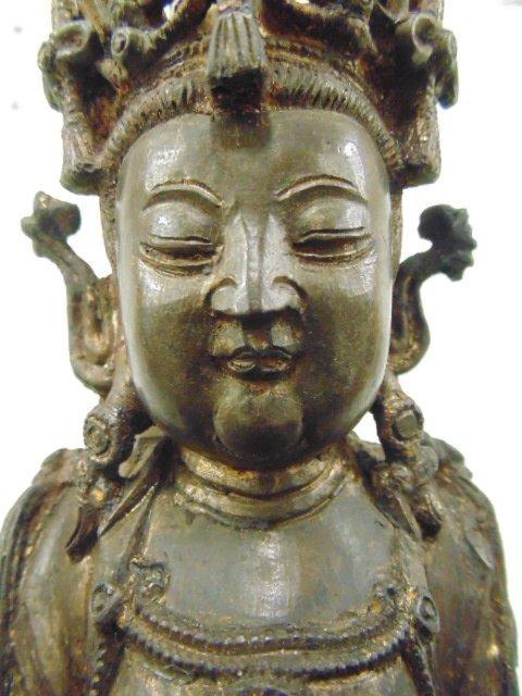 Early bronze Ming Dynastyfigure of Guanyin - 5