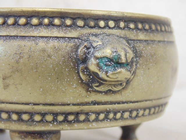 Early Chinese (Ming ?) 3 legged brass bowl - 5