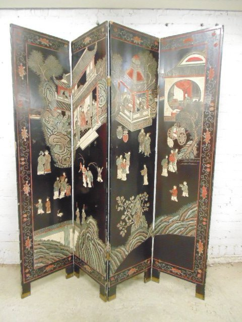 Chinese, Asian screen 4 panel
