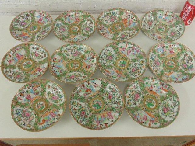 Lot of 11 Rose Medallion plates