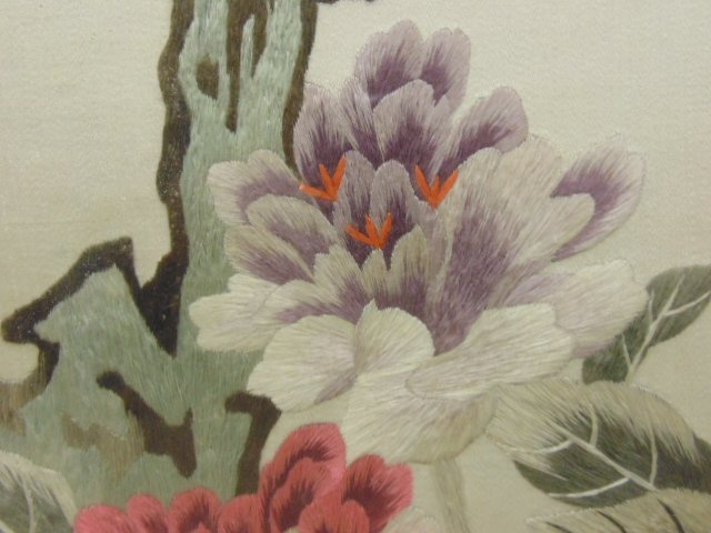 Set of 4 Chinese embroideries on silk - 9