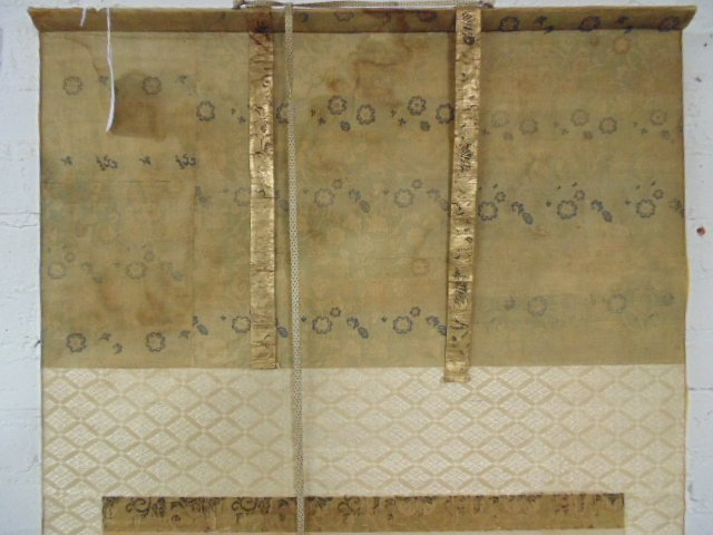 Mounted Chinese scroll, silk & paper - 3