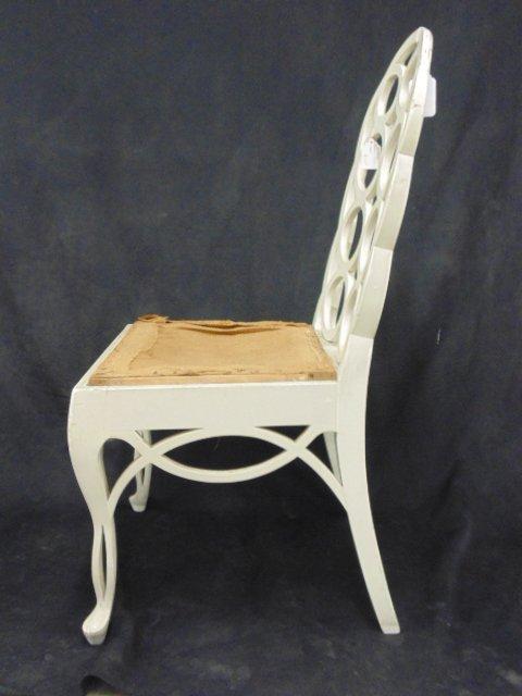 White painted loop side chair by Frances Elkins - 3