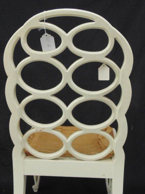 White painted loop side chair by Frances Elkins - 4