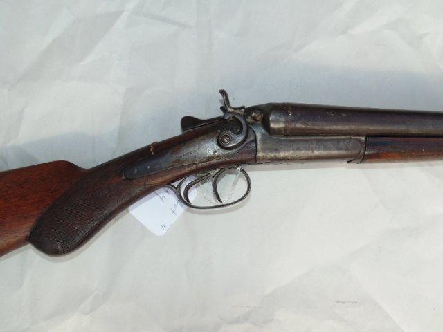 T. Barker double barrel antique shotgun - 2