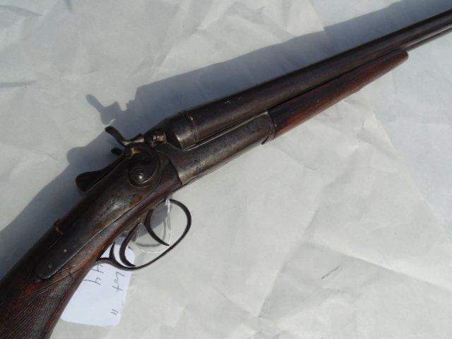 T. Barker double barrel antique shotgun - 4