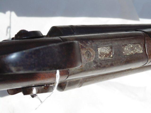 T. Barker double barrel antique shotgun - 7