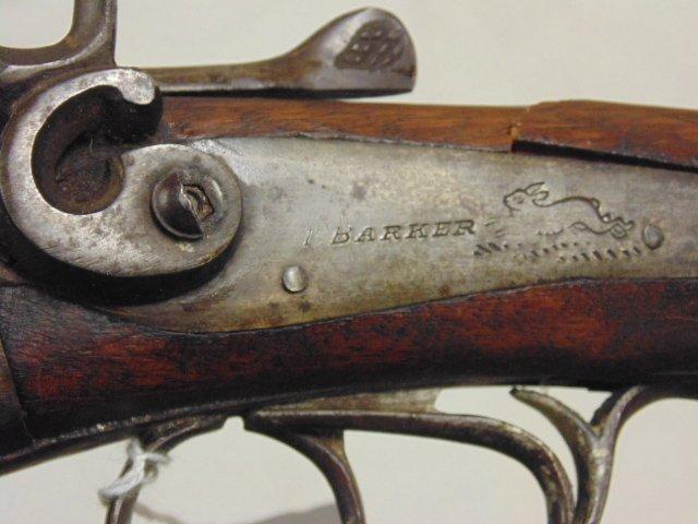 T. Barker double barrel antique shotgun - 8