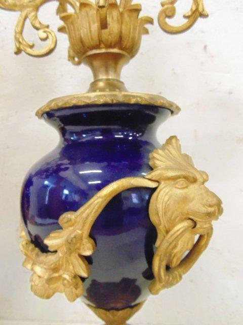 3 piece bronze & porcelain clock set - 10