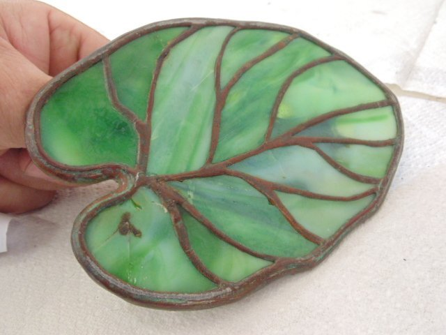 Bronze frog glass Lilly pad, Reading Hardware Company - 5