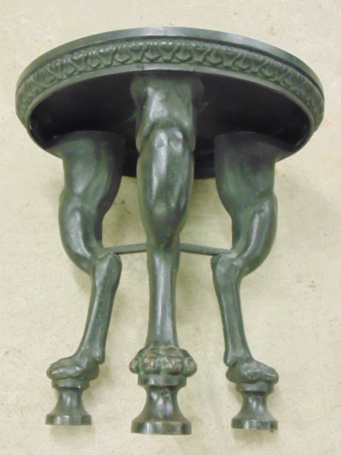 Bronze stool, three claw footed legs - 2