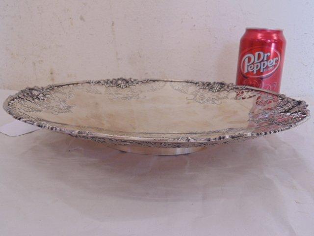 English silver halmarked dish, grape decoration - 2