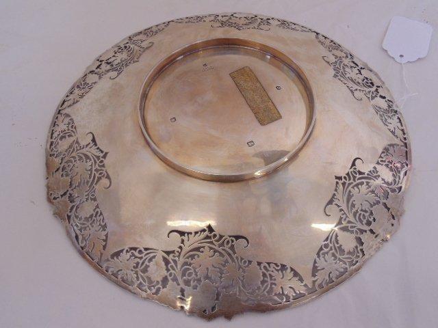 English silver halmarked dish, grape decoration - 4