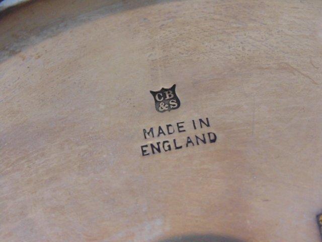 English silver halmarked dish, grape decoration - 5