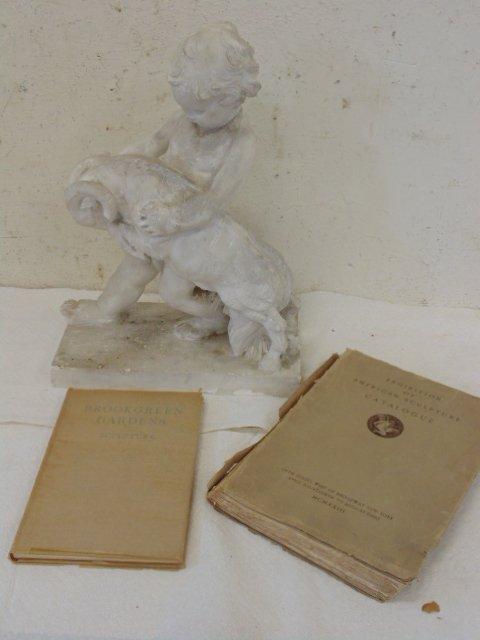 Study in plaster, boy with ram, by Attillio Piccirilli