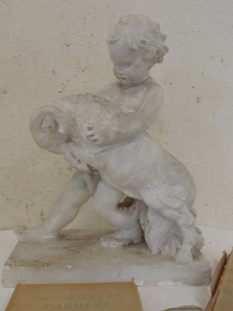 Study in plaster, boy with ram, by Attillio Piccirilli - 2
