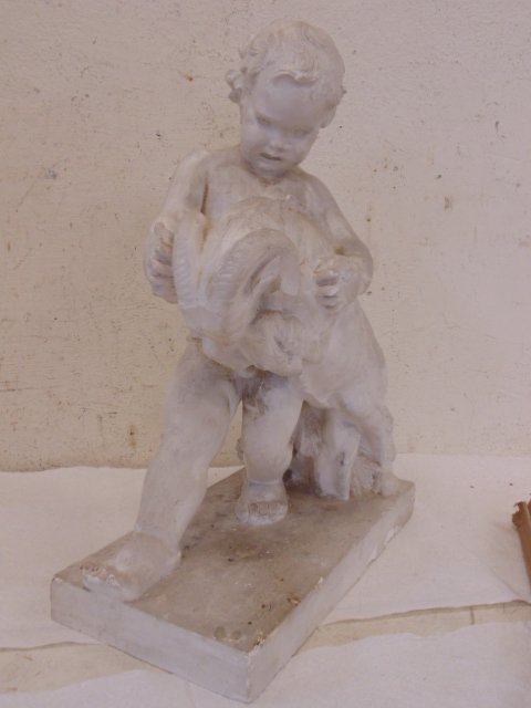 Study in plaster, boy with ram, by Attillio Piccirilli - 3