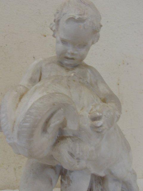 Study in plaster, boy with ram, by Attillio Piccirilli - 4