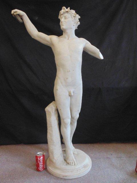Carved marble faun, signed Attilio Piccirilli