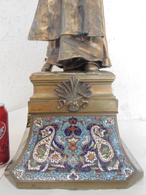 French bronze figural lamp, Thiebaut Freres foundry. - 4