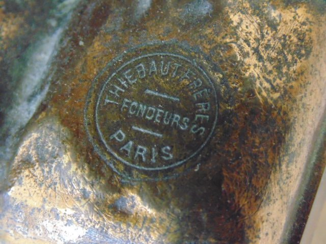 French bronze figural lamp, Thiebaut Freres foundry. - 9