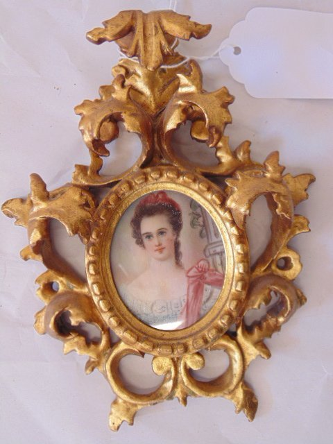 Pair French miniature portraits - 3