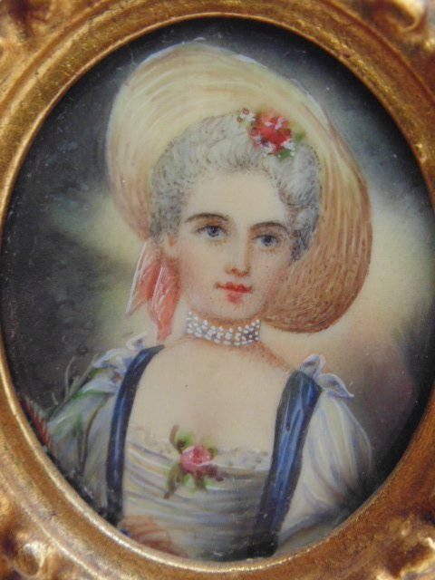 Pair French miniature portraits - 5