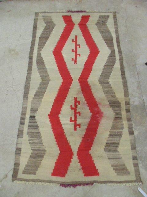 Navajo blanket, red brown, light beige