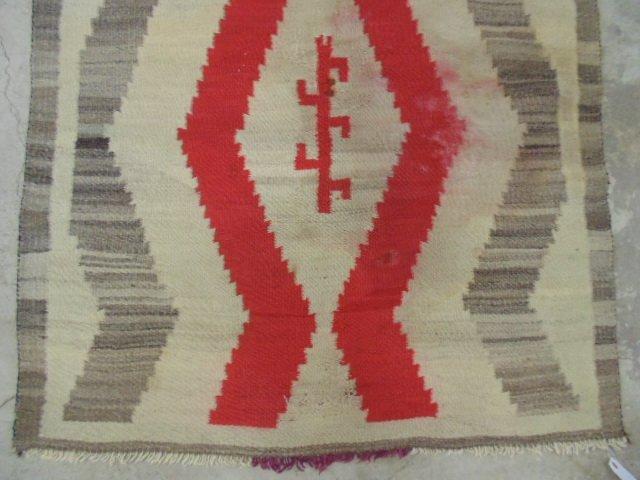 Navajo blanket, red brown, light beige - 2