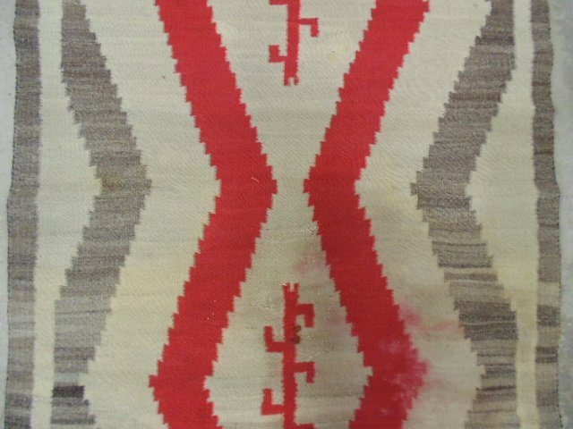 Navajo blanket, red brown, light beige - 3
