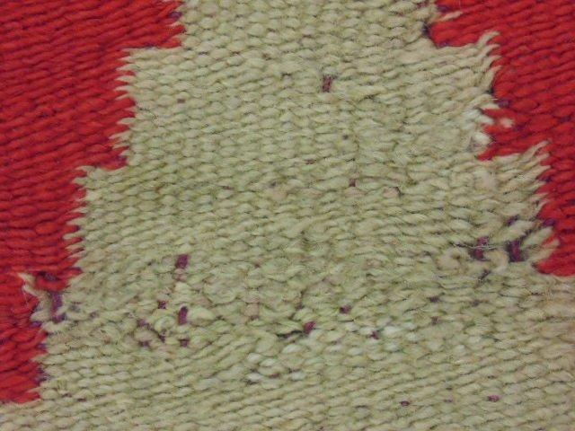 Navajo blanket, red brown, light beige - 5