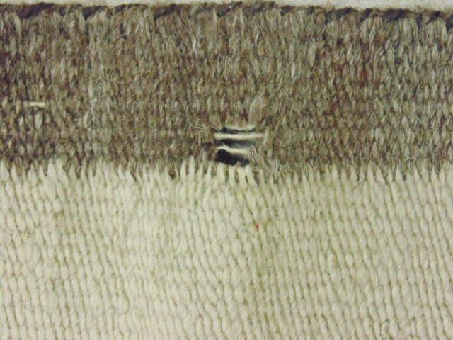 Navajo blanket, red brown, light beige - 8