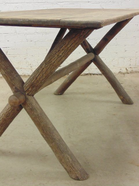 Old Hickory dining table & 4 chairs - 10