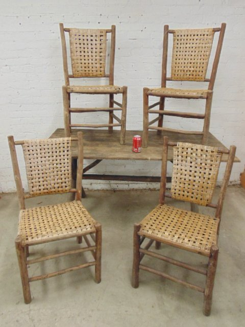 Old Hickory dining table & 4 chairs