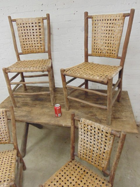 Old Hickory dining table & 4 chairs - 2