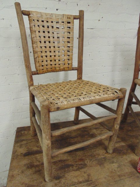 Old Hickory dining table & 4 chairs - 3