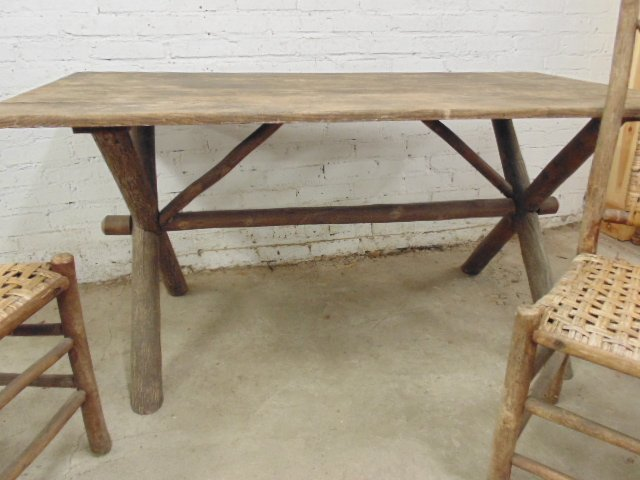 Old Hickory dining table & 4 chairs - 5