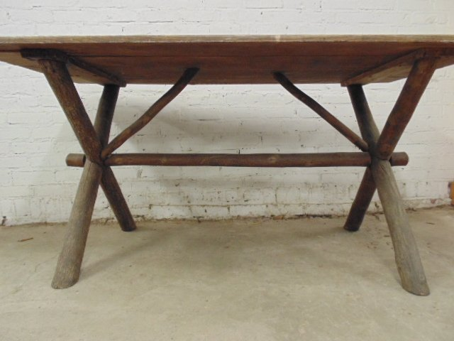 Old Hickory dining table & 4 chairs - 8