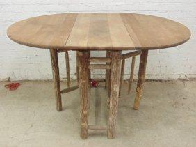 Old Hickory drop leaf, gate leg table