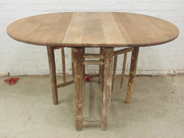 Old Hickory drop leaf, gate leg table