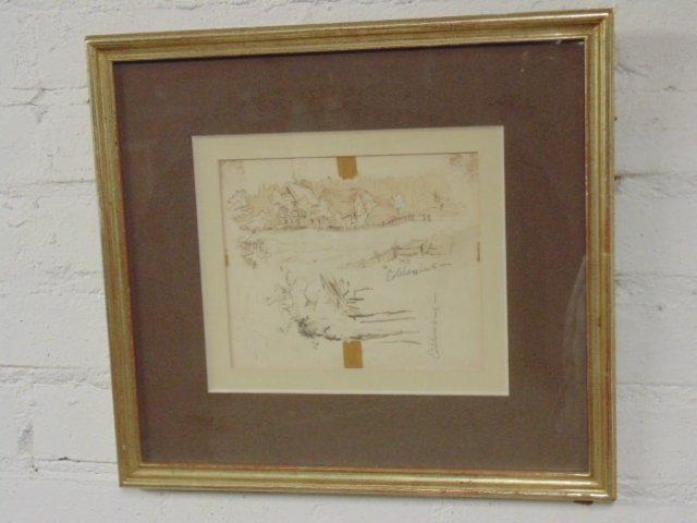 Pencil drawing, study, signed Eilshemius. - 2