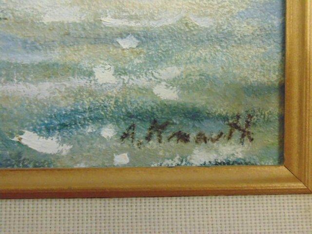"Painting, ""Moonlight"" Rockport Mass., Arnold Knauth - 3"