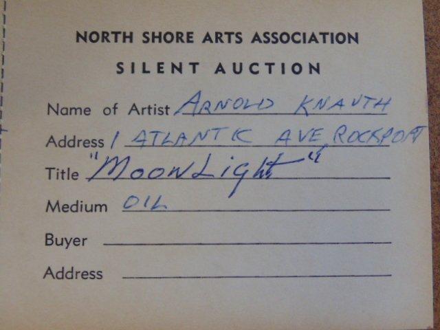 "Painting, ""Moonlight"" Rockport Mass., Arnold Knauth - 5"