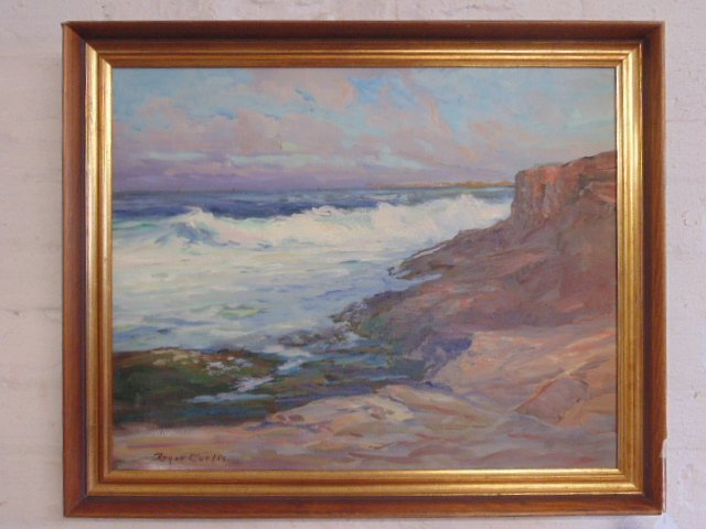 """Painting, """"Late Afternoon"""", signed Roger W. Curtis"""