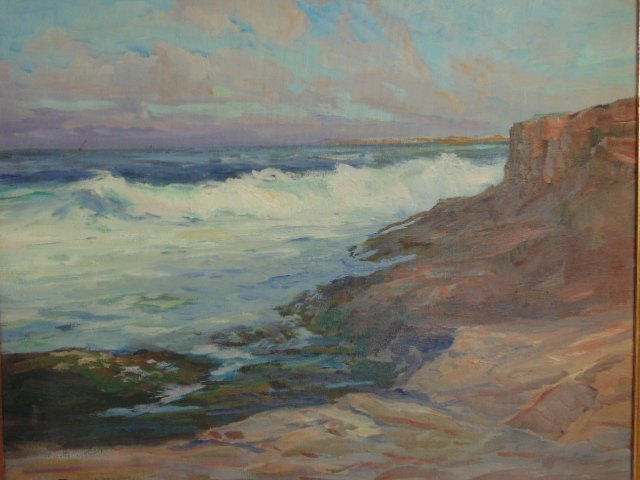 """Painting, """"Late Afternoon"""", signed Roger W. Curtis - 2"""