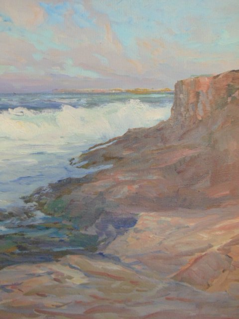 """Painting, """"Late Afternoon"""", signed Roger W. Curtis - 3"""