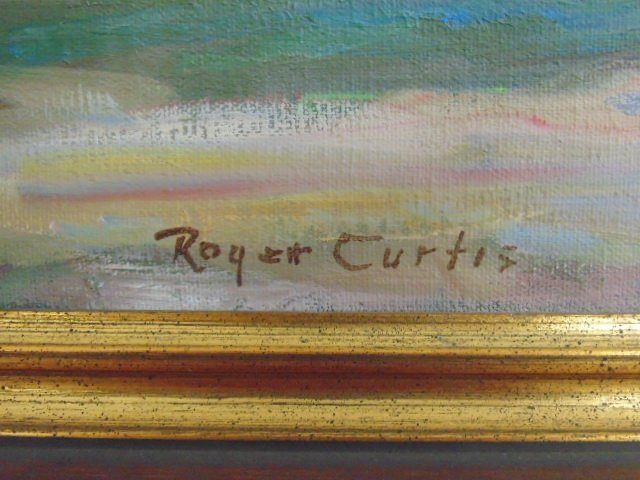 """Painting, """"Late Afternoon"""", signed Roger W. Curtis - 4"""