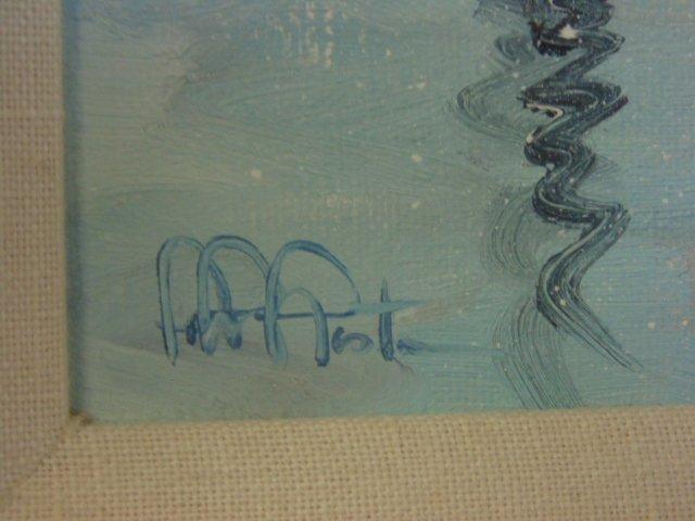 Painting, Rocky Neck harbor in snow,  John Nesta - 6