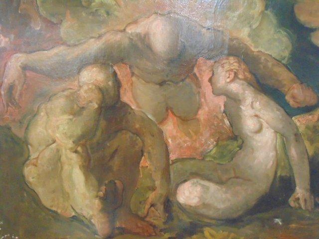 Painting, 3 nude figures,  G. Hunter Jones - 2